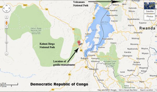 Kahuzi Biega National park Map