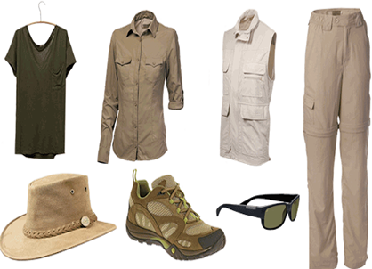 Congo safari packing list